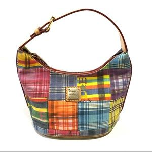 Dooney & Bourke Madras Plaid Ants Picnic Bucket